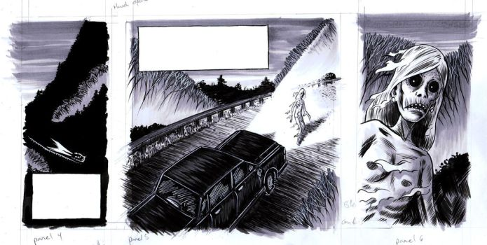 Ghosts in the Hills panels by jolimint