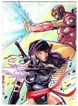 Sketch card team up by CRISTIAN-SANTOS