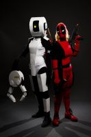 GLaDOS and Lady Deadpool by SnowboardingTaco