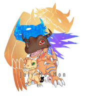 Agumon and evolutions by July-MonMon