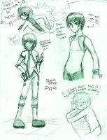 Young Justice sketchdump by GohoshiSuruNyan