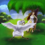 Comission- Leda and the Swan by Bilious