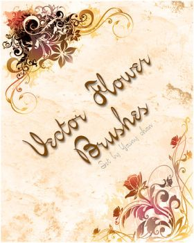 Vector Flower Brushes I by Yasny-resources