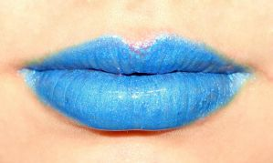 Blue Lips by Skittles52Stock