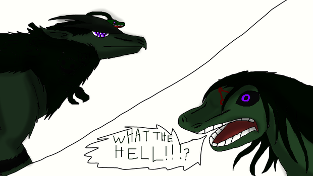 Lizard Humonculous reactes by thedragonlover95
