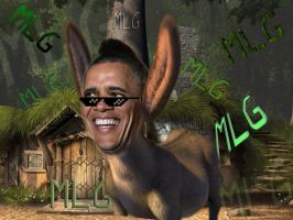 MLG Donkey Obama by SpaceshipLewis