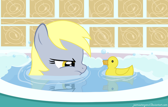 Derpy and duck (new version) by JoeMasterPencil