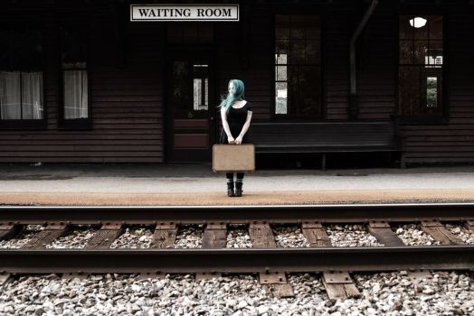 Waiting for a train by DaveMylesPhotography