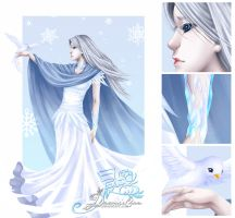 Snow Queen - White Yonder by dawnshue