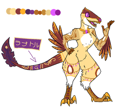[CLOSED] Sun's Daughter Velociraptor DTA by OmegaWolfDoge