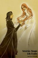 Severus Snape and Lily Evans by uuyly