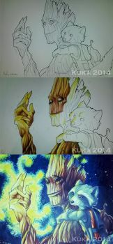 We are Groot (WIPs) by Pandablubb