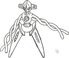 Hoenn pokemon on thelineartpokedex deviantart for Deoxys coloring pages