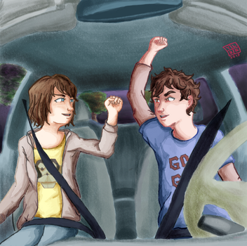 Day 1: Drive-in by FairyCompass
