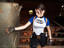 Dirty Lara Croft SOLA wetsuit by TanyaCroft