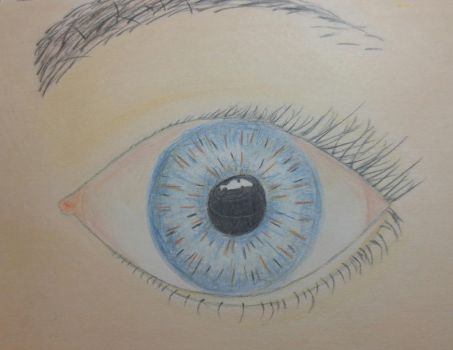 Eye as a Christmas gift for my Mom by GraceAnneDraws