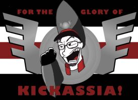 Glory of Kickassia Flag by cwood815