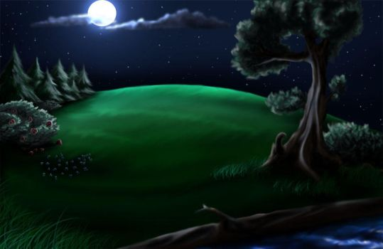 Night Background - Commission by DarkFeather