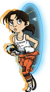 Chell by Hazeloop