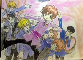 ouran high school host club by kimitos-drawing