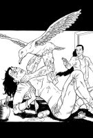 Man-Gull Issue 1 Cover Inks by rianmiller