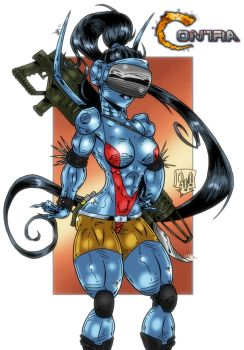 Tasha from Contra Legacy Of War by violencejack666