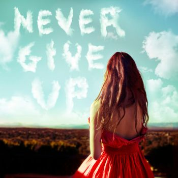 Never Give Up by Rebeca-Cygnus
