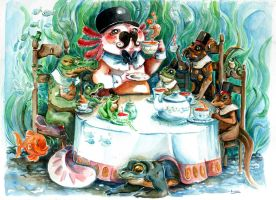 Tea time in the swamp by Pendalune