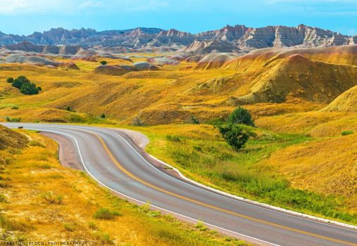 USA | Yellow Mountain Road by lux69aeterna