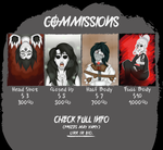 Commissions Info 1 by creepyodd
