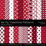 Be My Valentine Patterns by MysticEmma