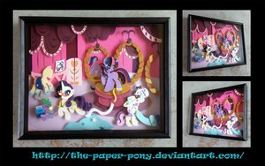 Commission: Carousel Boutique Shadowbox by The-Paper-Pony