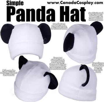Simple Panda Hat by KayPikeFashion