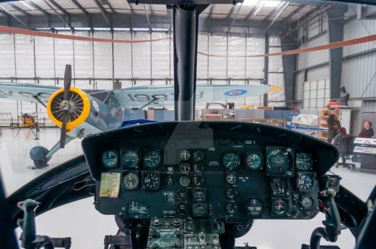 UH-1 Helicopter cockpit by NBrownPhotography