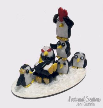 Penguin Pile Up by NocturnalCreations-x