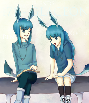 Glaceon: Friends by Stella--Chan
