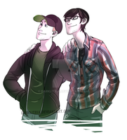 Ster_ and Jerma985 by DarkLitria