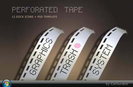 PerforatedTape dock icons by Carburator
