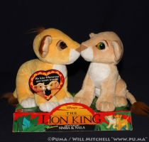 Lion King Kissing Simba and Nala Cubs by Mattel by dapumakat
