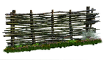 Weaved Wooden Fence PNG.. by AledJonesStockNArt