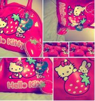 hello kitty strawberrys by brittiefacex3