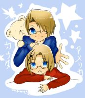 APH : bros OuO by Bhamuz02