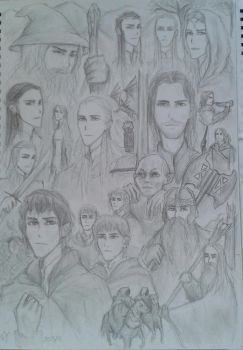 The complete LotR tribute (old drawing) by nightwish77