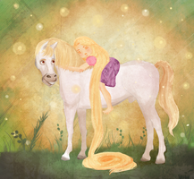Rapunzel and Maxi by Ezelie