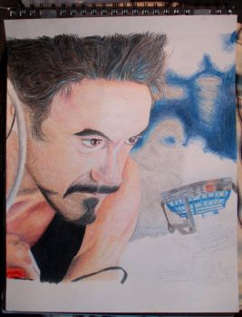 Tony Stark creating the Arc Reactor: WIP by mmshoe