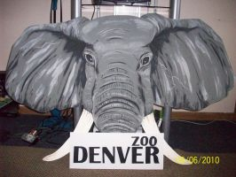 Denver Zoo sign by Allaeysis