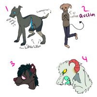 Mixed strange adopts (CLOSED) by iluvwolfies