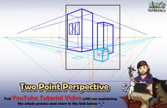 Two-Point Perspective - Mink's Tutorials (YouTube) by Minks-Art