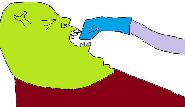 Shrek Gets His Braces Off by Fat-Kitty24