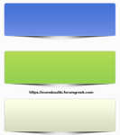 Simple banners with shadow by IconSkoulikiGraphics